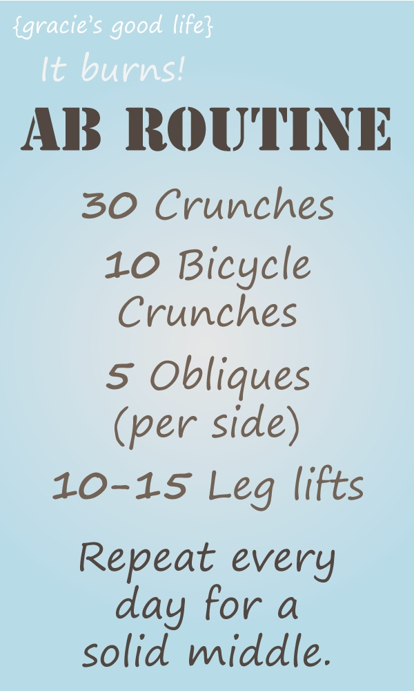 Ab Workout Gracie S Good Life