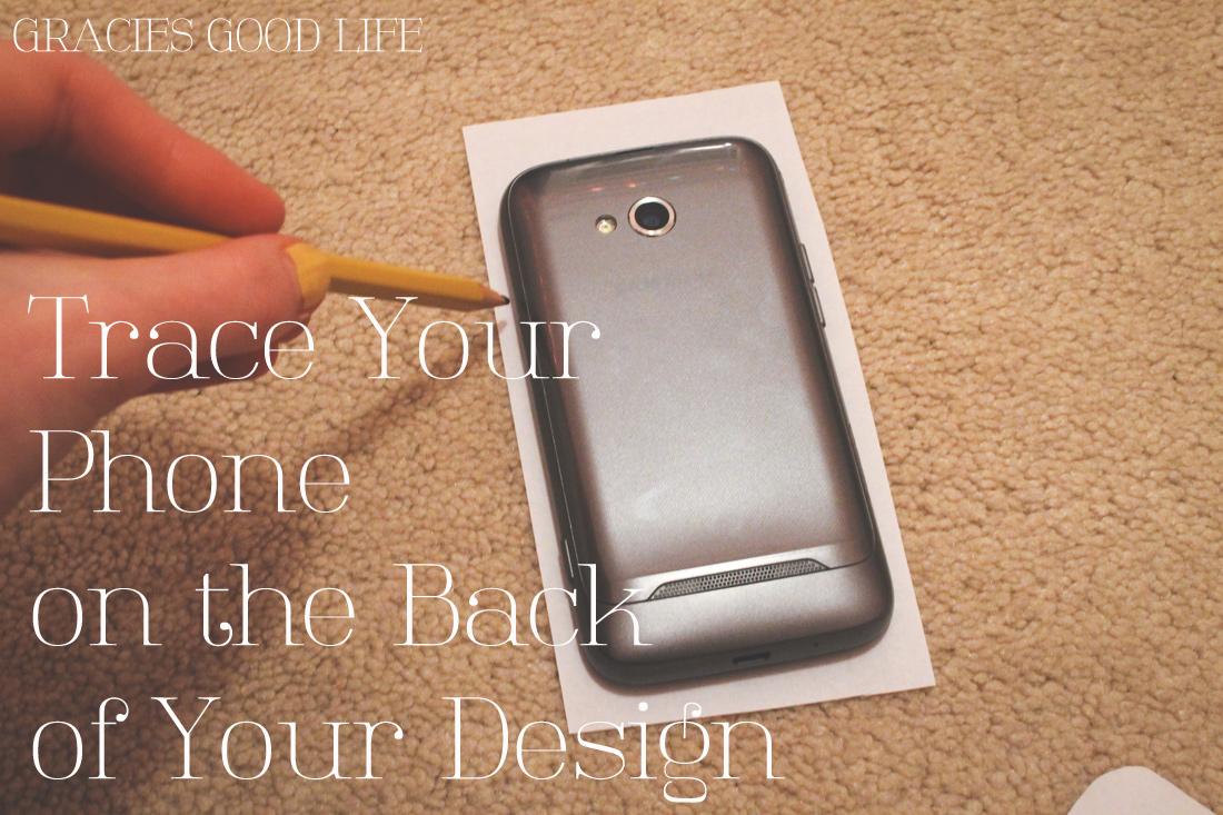 Easy diy phone case gracie 39 s good life for Homemade phone case